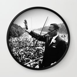 Remembering African American History and Martin Luther King Wall Clock