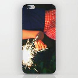 summer sparkler iPhone Skin
