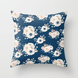 Dog Rose Pattern Throw Pillow