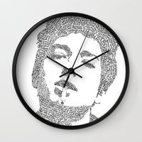 dylan Wall Clocks featuring Bob Dylan by S. L. Fina