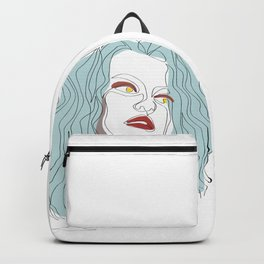 One-Line Art Woman Hairstyle 01 Backpack