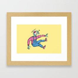 OPEN MINDED: LASER SPACER Framed Art Print