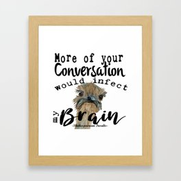 Infectious Conversation Framed Art Print