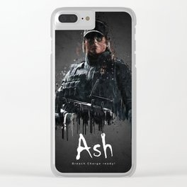 Ash Clear iPhone Case