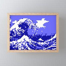 Pixel Tsunami Framed Mini Art Print