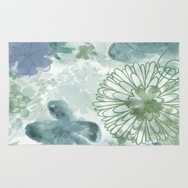Bouquet of Dreams -- muted Rug