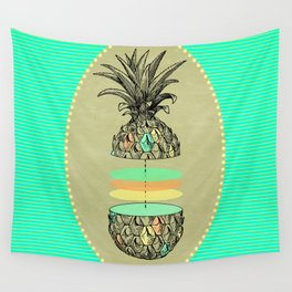 Sliced pineapple Wall Tapestry