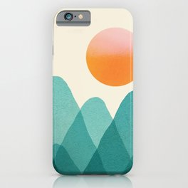 Abstraction_Mountains_SUNSET_Landscape_Minimalism_003 iPhone Case