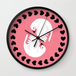 lovebirds Wall Clock