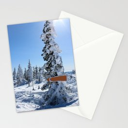 Winter mountans Stationery Cards