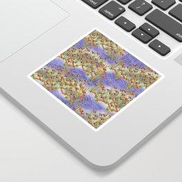 Vintage chinese floral pattern Sticker