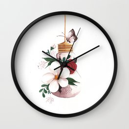 Unexpected Terrarium Moth Wall Clock