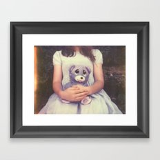 Teddy Bear Polaroid Framed Art Print