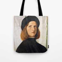 Lorenzo Lotto - Portrait of a Young Man with a Lamp Tote Bag