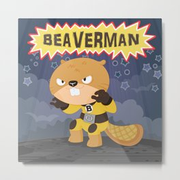 The incredible Beaverman Metal Print