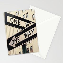 One Way New York Sidewalk Stationery Cards