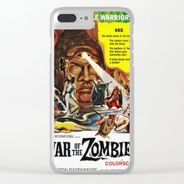 Vintage Film Poster - War of the Zombies (1964) Clear iPhone Case