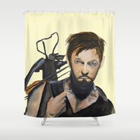 daryl dixon Shower Curtains featuring Daryl by Brittany Ketcham