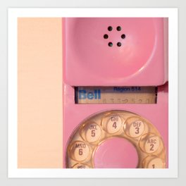 Pink Hotline Art Print