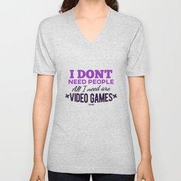 Video Game Gamer gamble online gift Unisex V-Neck