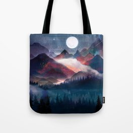 Mountain Lake Under the Stars Tote Bag