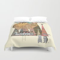 adventure Duvet Covers featuring adventure days by bri.buckley
