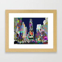 The flow in Times Square New York Framed Art Print