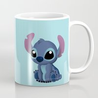 chibi Mugs featuring Chibi Stitch by Katie Simpson a.k.a. Redhead-K
