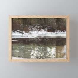 Icy Reflections Framed Mini Art Print