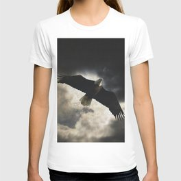 Soaring Eagle in Stormy Skies T-shirt