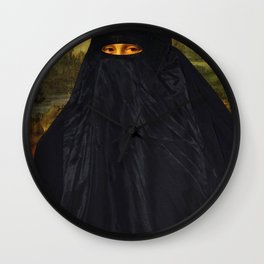 Mona Lisa Hides Her Smile Wall Clock