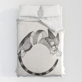 Cat Loop Duvet Cover