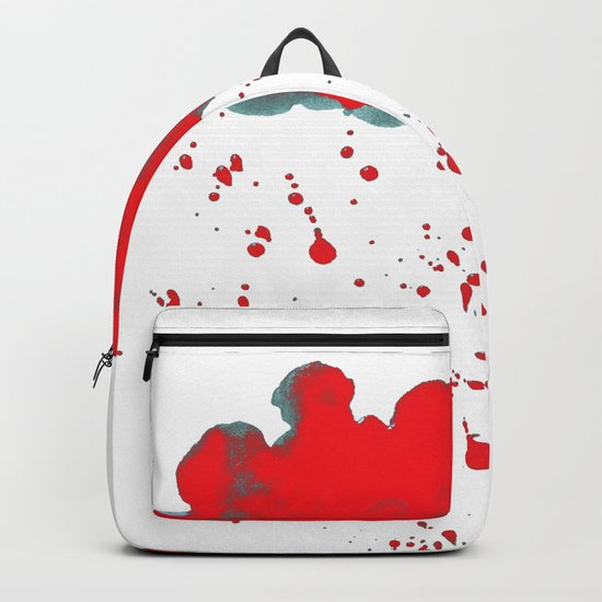 Red Red Clouds Backpack