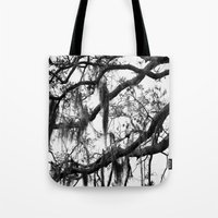 spanish Tote Bags featuring Spanish Moss by MorganLoriPhoto