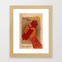 Duck you sucker! Framed Art Print