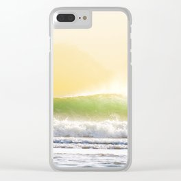 Perfect wave with offshore wind Clear iPhone Case
