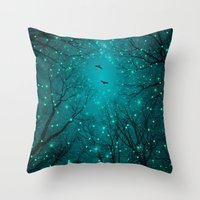 kubrick Throw Pillows featuring One by One, the Infinite Stars Blossomed by soaring anchor designs