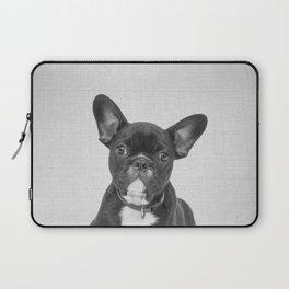 Bulldog Puppy - Black & White Laptop Sleeve