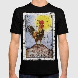 El Gallo Meican Loteria Bingo Card T-shirt