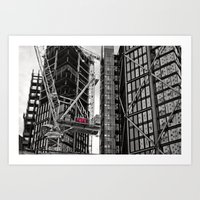 kris tate Art Prints featuring Tate by verogalaxy