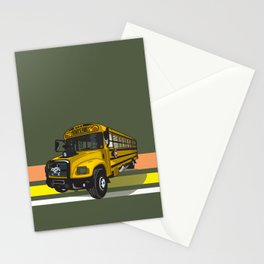 School bus Stationery Cards