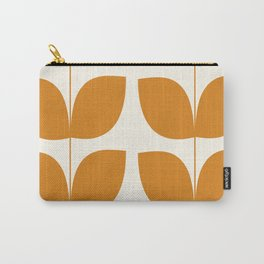 Mid Century Modern Leaves Orange Carry-All Pouch