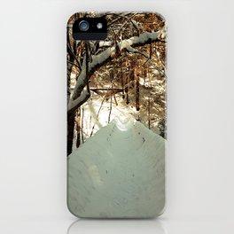 Snowshoeing through Vaughan's Woods iPhone Case