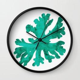 Watercolor coral Wall Clock