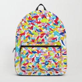 Rainbow Confetti acrylic painting Backpack