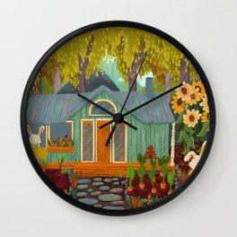 Rabbit House Wall Clock
