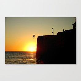 Sun leap Canvas Print