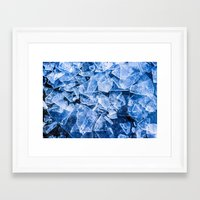 ice Framed Art Prints featuring Ice by digital2real