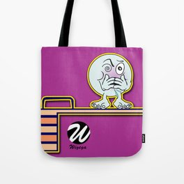 Dizzy Diver Cartoon Character on Springboard Tote Bag