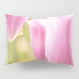 Spring is here with wonderful  colors - close-up of tulips flowers Pillow Sham